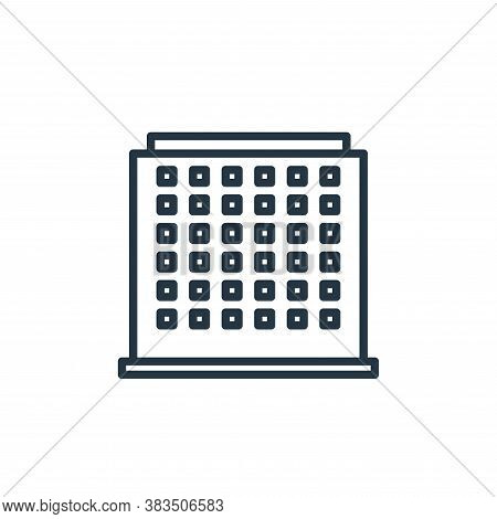 office building icon isolated on white background from building collection. office building icon tre