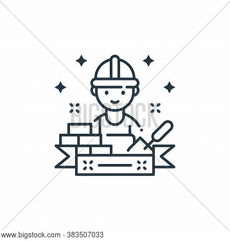 builder icon isolated on white background from labor day collection. builder icon trendy and modern