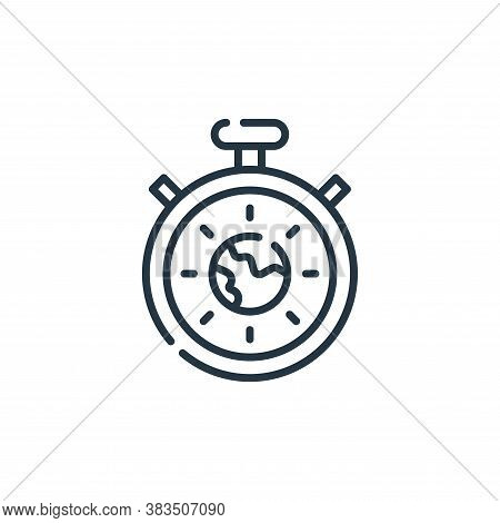 stopwatch icon isolated on white background from mother earth day collection. stopwatch icon trendy