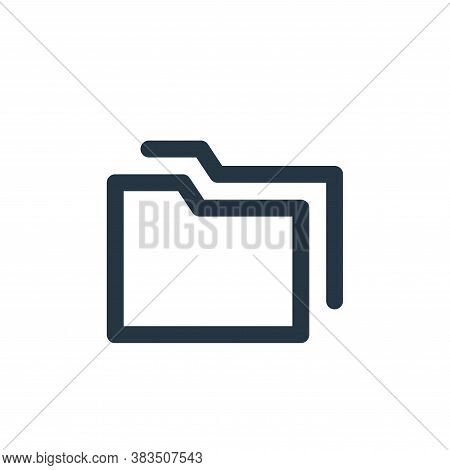 folders icon isolated on white background from email ui collection. folders icon trendy and modern f
