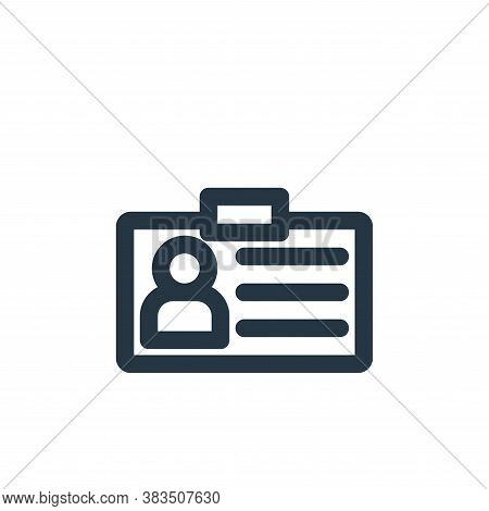 identification card icon isolated on white background from school collection. identification card ic