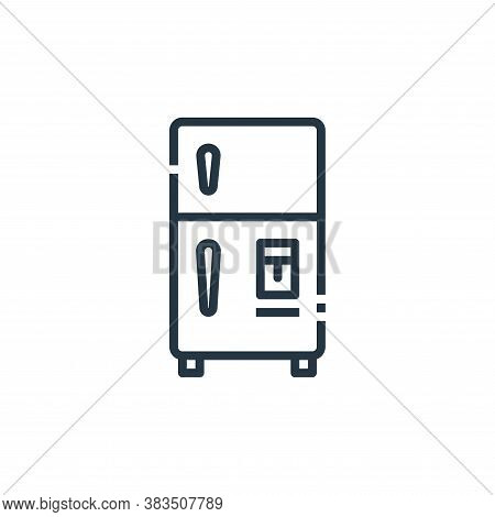 refrigerator icon isolated on white background from furniture collection. refrigerator icon trendy a