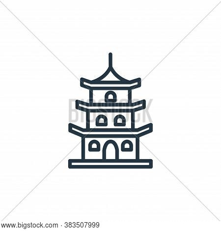 pagoda icon isolated on white background from building collection. pagoda icon trendy and modern pag