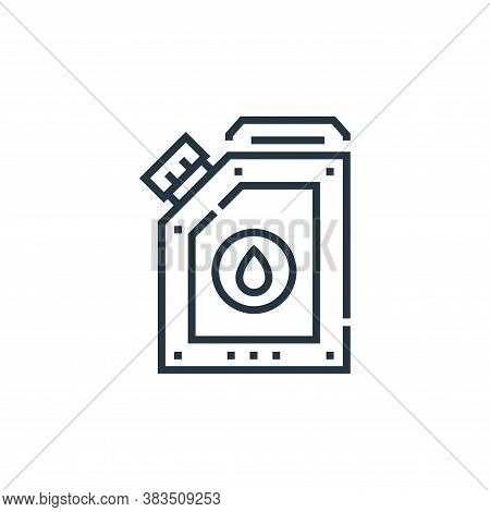 gas icon isolated on white background from driving school collection. gas icon trendy and modern gas