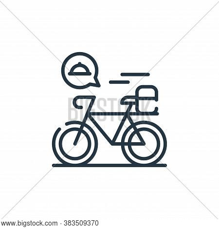 delivery bike icon isolated on white background from restaurant collection. delivery bike icon trend
