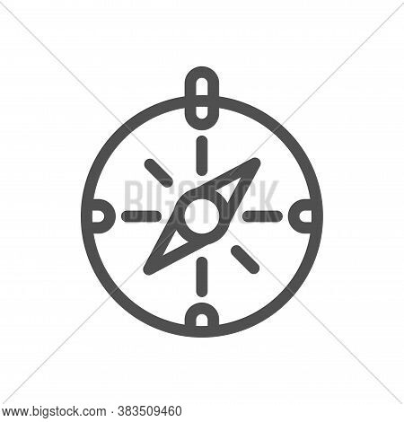 Thin Line Compass Outline Icon Vector Illustration Compass Icon Vector Illustration. Linear Style Ic