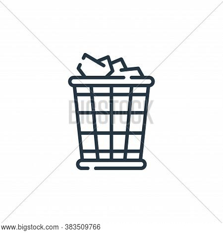 trash icon isolated on white background from office collection. trash icon trendy and modern trash s