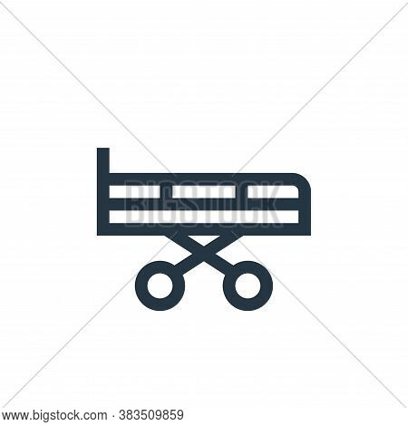 stretcher icon isolated on white background from nursing collection. stretcher icon trendy and moder