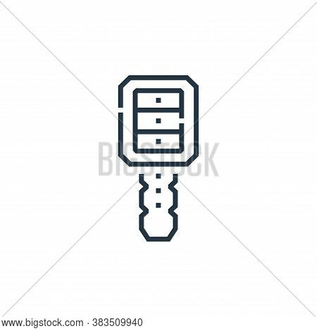 key icon isolated on white background from driving school collection. key icon trendy and modern key