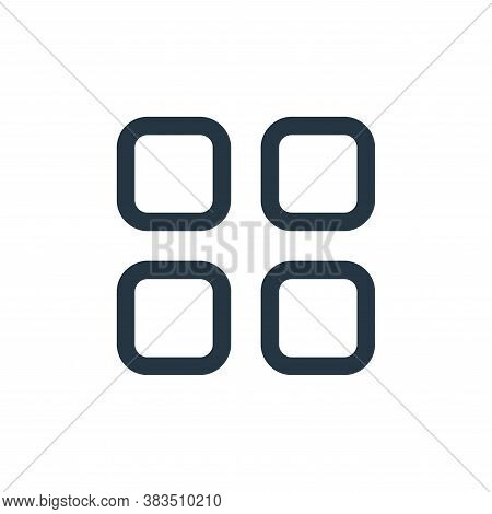 grid icon isolated on white background from interface collection. grid icon trendy and modern grid s