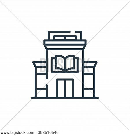 library icon isolated on white background from books and literature collection. library icon trendy
