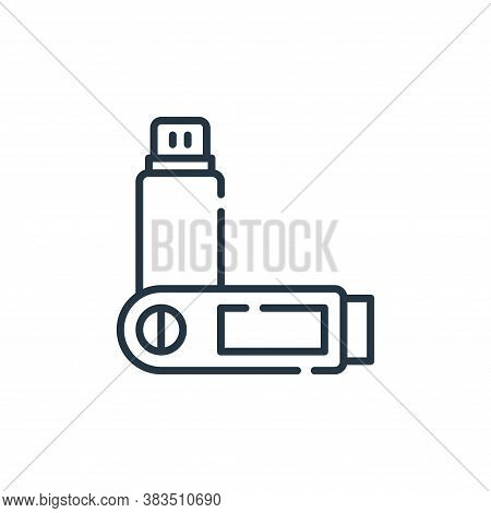 usb flash drive icon isolated on white background from office collection. usb flash drive icon trend