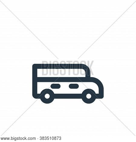 school bus icon isolated on white background from school collection. school bus icon trendy and mode