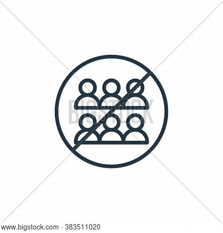 public icon isolated on white background from coronavirus collection. public icon trendy and modern