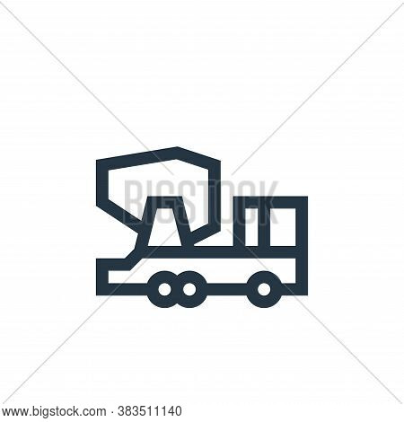 concrete truck icon isolated on white background from machinery collection. concrete truck icon tren