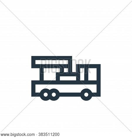 crane truck icon isolated on white background from machinery collection. crane truck icon trendy and