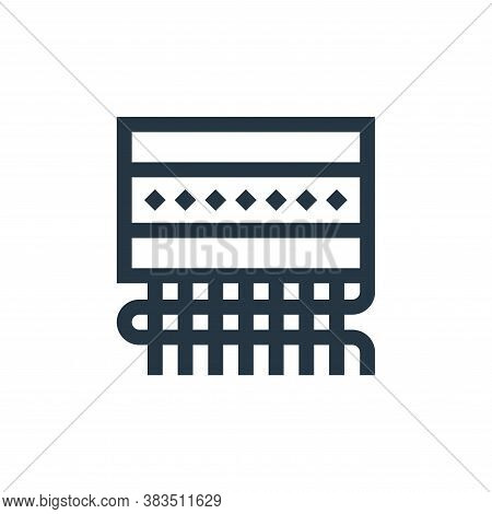 weaving icon isolated on white background from handcrafts collection. weaving icon trendy and modern