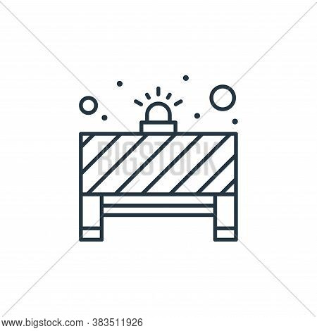 barrier icon isolated on white background from labour day collection. barrier icon trendy and modern