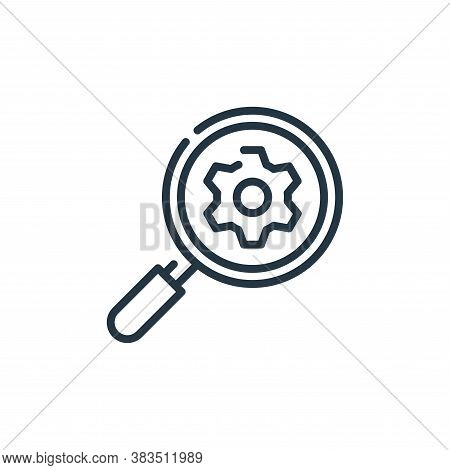 search engine icon isolated on white background from seo and marketing collection. search engine ico