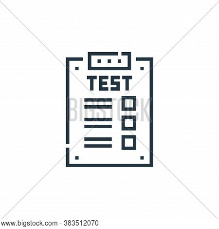 test icon isolated on white background from driving school collection. test icon trendy and modern t