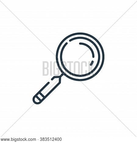 magnifying glass icon isolated on white background from office collection. magnifying glass icon tre