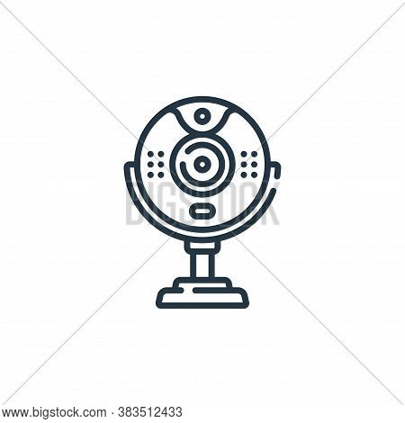 webcam icon isolated on white background from hardware collection. webcam icon trendy and modern web
