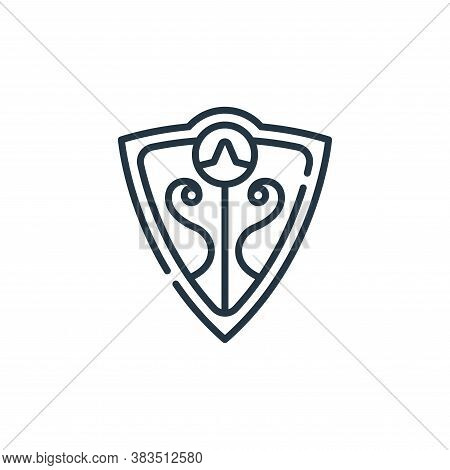 shield icon isolated on white background from fairytale collection. shield icon trendy and modern sh