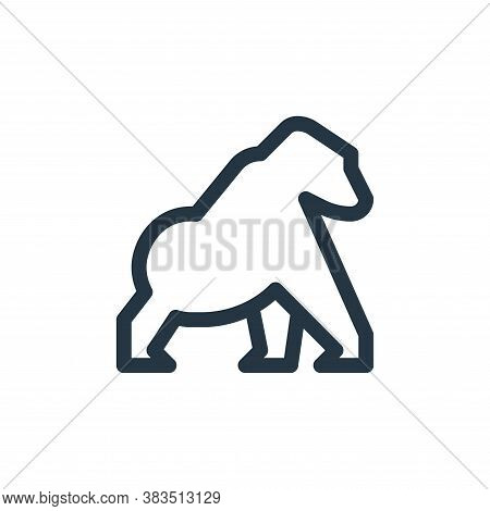 gorilla icon isolated on white background from animal and nature collection. gorilla icon trendy and