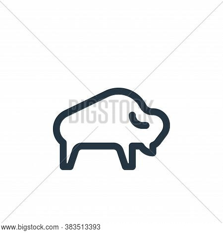 bison icon isolated on white background from animal and nature collection. bison icon trendy and mod