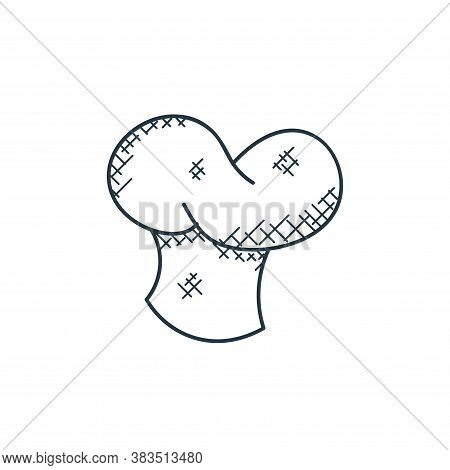 chef hat icon isolated on white background from food hand drawn collection. chef hat icon trendy and