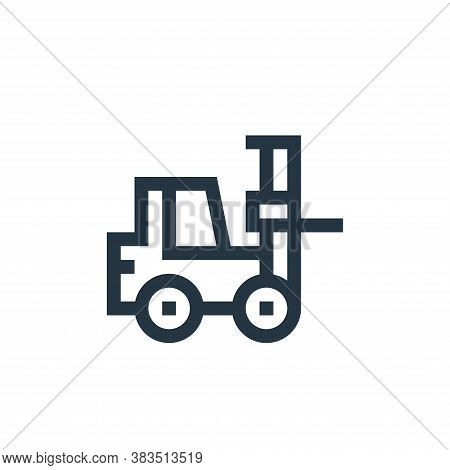 forklift icon isolated on white background from machinery collection. forklift icon trendy and moder