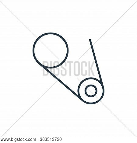safety pin icon isolated on white background from sewing collection. safety pin icon trendy and mode