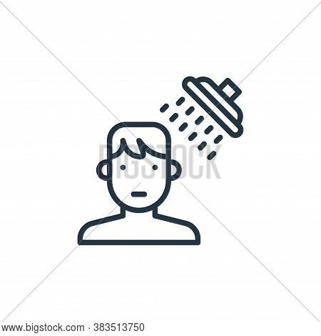 shower icon isolated on white background from coronavirus collection. shower icon trendy and modern