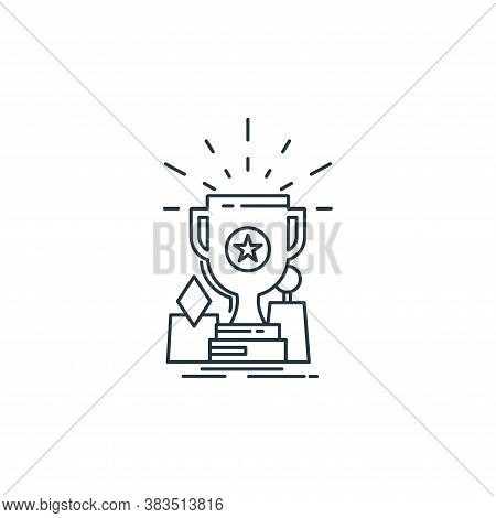 award icon isolated on white background from analytic investment and balanced scorecard collection.