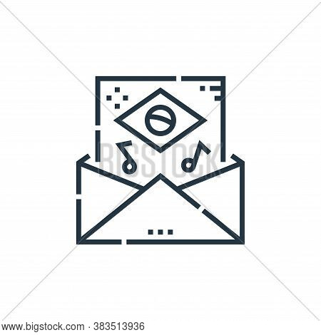 email icon isolated on white background from brazilian carnival collection. email icon trendy and mo