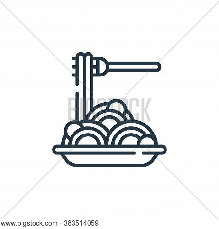 spaghetti icon isolated on white background from restaurant collection. spaghetti icon trendy and mo