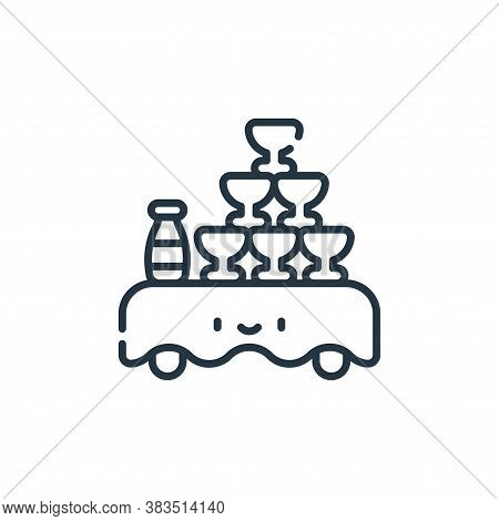 table icon isolated on white background from party and celebration collection. table icon trendy and