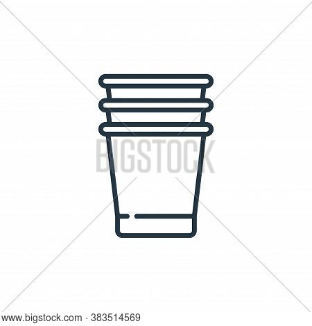 plastic cup icon isolated on white background from celebration collection. plastic cup icon trendy a