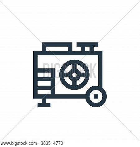 electric generator icon isolated on white background from machinery collection. electric generator i