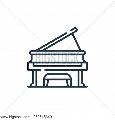 piano icon isolated on white background from restaurant collection. piano icon trendy and modern pia