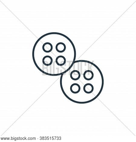 buttons icon isolated on white background from sewing collection. buttons icon trendy and modern but