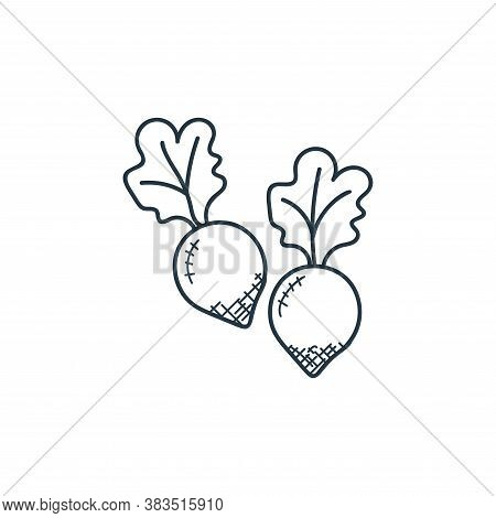 turnip icon isolated on white background from food hand drawn collection. turnip icon trendy and mod