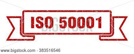 Iso 50001 Grunge Vintage Retro Band. Iso 50001 Ribbon