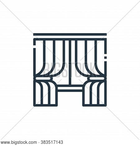 curtains icon isolated on white background from furniture collection. curtains icon trendy and moder