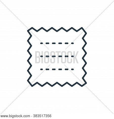 fabrics icon isolated on white background from sewing collection. fabrics icon trendy and modern fab