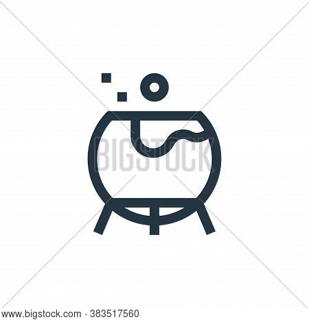 cauldron icon isolated on white background from fairytale collection. cauldron icon trendy and moder