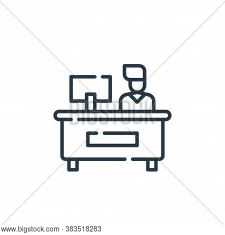 reception icon isolated on white background from office collection. reception icon trendy and modern