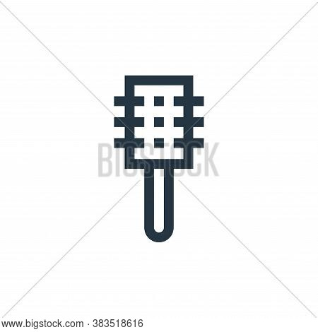 hair brush icon isolated on white background from hairdressing and barber shop collection. hair brus