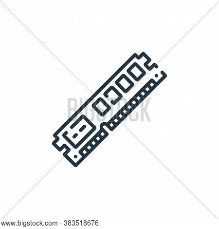 ram icon isolated on white background from hardware collection. ram icon trendy and modern ram symbo