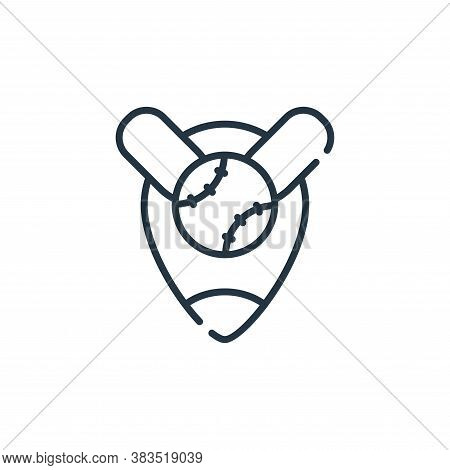 location icon isolated on white background from baseball collection. location icon trendy and modern
